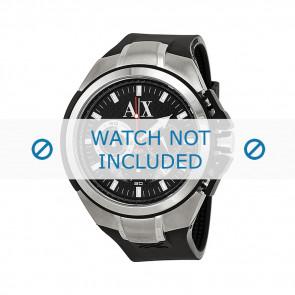 Horlogeband Armani AX1042 Silicoon Zwart 32mm