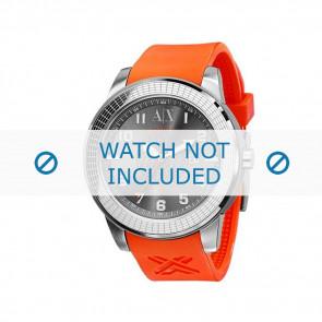Armani horlogeband AX-1073 Rubber Oranje