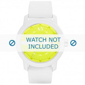 Armani horlogeband AX-1241 Silicoon Wit 22mm