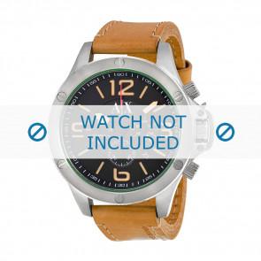 Armani horlogeband AX-1516 Leder Bruin 22mm