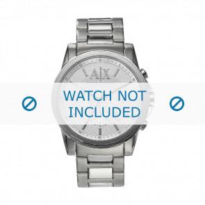 Armani horlogeband AX-2058 Staal Zilver 22mm
