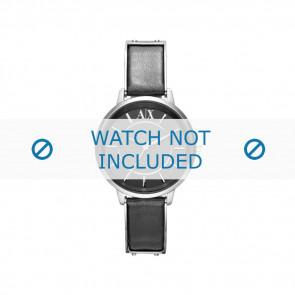 Armani horlogeband AX-5303 Leder Zwart 16mm