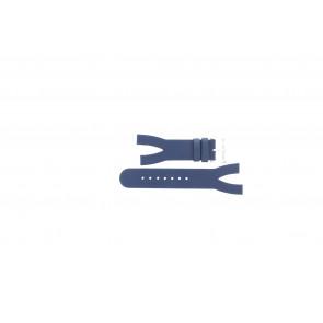 Horlogeband Davis BB1403 Leder Blauw 10mm
