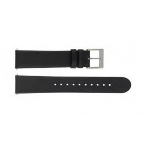 Mondaine horlogeband BM20098 / FE16822.20Q.XL Leder Zwart 22mm