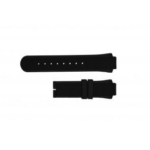 Breil horlogeband TW0450 / TW0455 Rubber Zwart 16mm