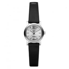 Horlogeband Burberry BU1761 Leder Zwart
