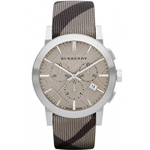 Horlogeband Burberry BU9358 / 7177852 Leder Multicolor 20mm