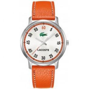 Horlogeband Lacoste 2000568 / LC-41-3-14-2199 Leder Oranje 20mm