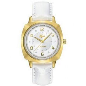 Horlogeband Lacoste 2000604 / LC-47-3-34-2234 Leder Wit 18mm