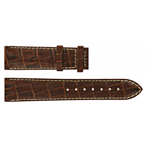 Certina horlogeband C610007729 XL Leder Bruin 20mm + wit stiksel
