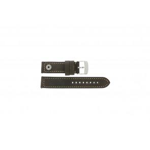 Camel horlogeband Active Leder Bruin 22mm + bruin stiksel