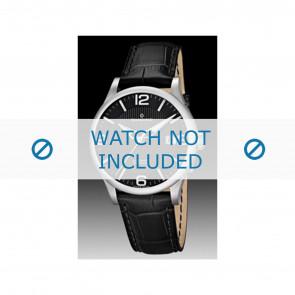 Candino horlogeband C4494 Leder Zwart + zwart stiksel
