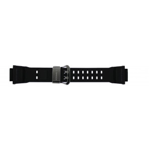Casio horlogeband GW-9400-1 / 10455201 Silicoon Zwart 19mm