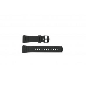 Casio horlogeband DBC-32C-1BW Rubber Zwart 22mm