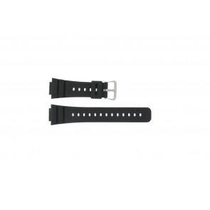 Casio horlogeband DW-5000SL-1 / 10512401 / 5600E / 5600E-1 32 / G-5600 / G-5700 Silicoon Zwart 16mm