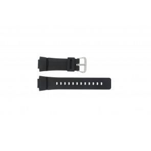 Casio horlogeband G-100-1BV Silicoon Zwart 16mm