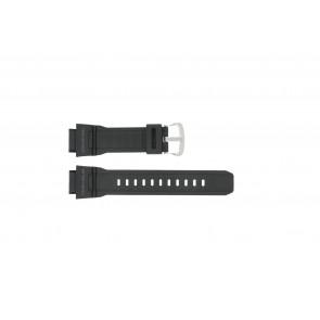 Casio horlogeband G-9300-1 / 10388870 Silicoon Zwart 20mm