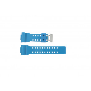 Casio horlogeband GD-110-2W / 10427892 Rubber Turquoise 16mm