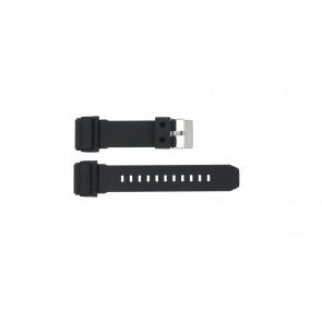 Casio horlogeband GD-400-1W / 10475776 Rubber Zwart 26mm