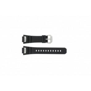 Casio horlogeband GS-1000J-1A Silicoon Zwart 16mm
