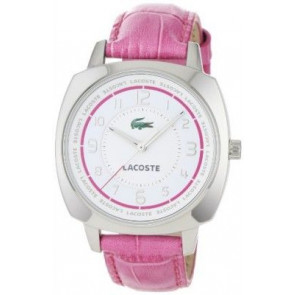 Horlogeband Lacoste 2000599 / LC-47-3-14-2233 Croco leder Roze 18mm