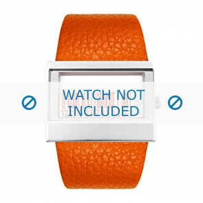 Dolce & Gabbana horlogeband 3719240404 Leder Oranje