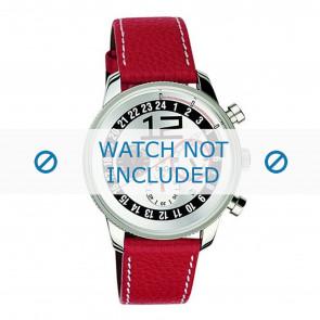 Dolce & Gabbana horlogeband 3719740276 Leder Rood + wit stiksel