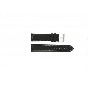 Davis horlogeband BB1020 Leder Zwart 22mm