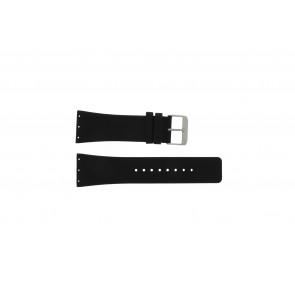 Danish Design horlogeband IQ12Q641 / IQ12Q767 / IQ14Q641 / IQ13Q641 Leder Zwart 28mm