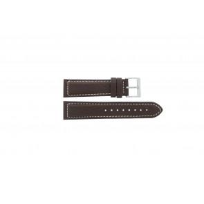 Davis horlogeband BB1021 / BB1023 Leder Donkerbruin 22mm