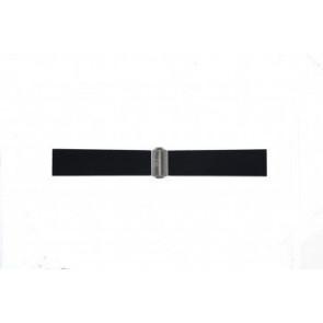 Horlogeband Davis BB0881 Rubber Zwart 22mm