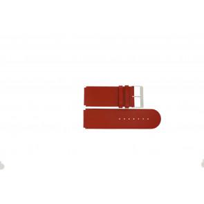 Jacques Lemans horlogeband DC-218 / RE Leder Rood 26mm