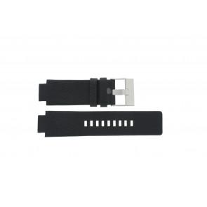 Diesel horlogeband DZ-1089 / DZ-1091 Leder Zwart 18mm