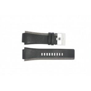 Diesel horlogeband DZ-4083 Leder Zwart 22mm