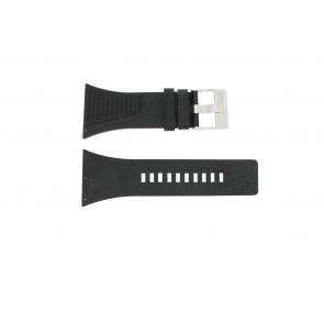 Diesel horlogeband DZ-7184 Leder Zwart 38mm