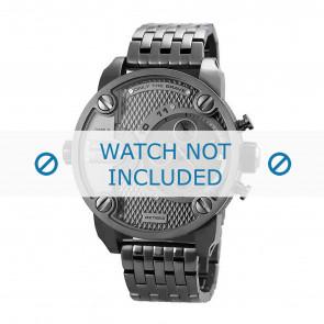 Diesel horlogeband DZ7263 Staal Antracietgrijs 24mm