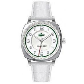 Horlogeband Lacoste 2000598 / LC-47-3-14-2233 Croco leder Wit 18mm