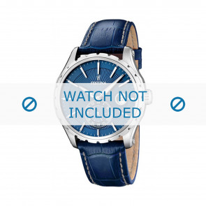 Festina horlogeband F16486/6 Leder Blauw 23mm + wit stiksel