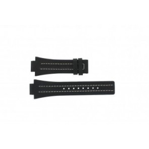 Festina horlogeband F16185 / 1 Leder Zwart 16mm + wit stiksel