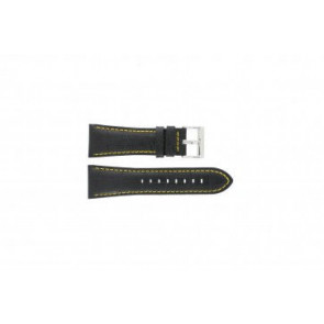 Festina horlogeband F16235/7 Leder Zwart 28mm + geel stiksel
