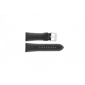 Festina horlogeband F16235/6 Leder Zwart 28mm + wit stiksel