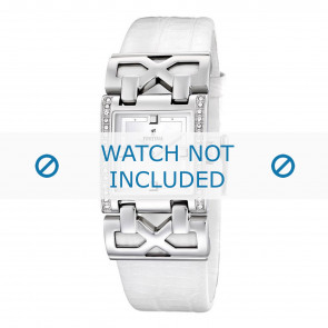 Horlogeband Festina F16465-1 / F16465-4 Leder Wit 23mm