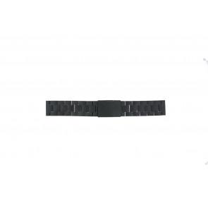 Fossil horlogeband FS4775 Staal Zwart 22mm