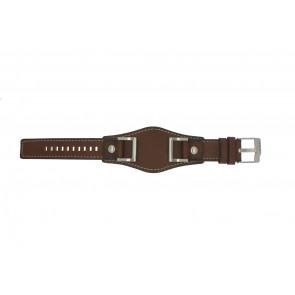 Fossil horlogeband JR1157 Leder Bruin 24mm + standaard stiksel