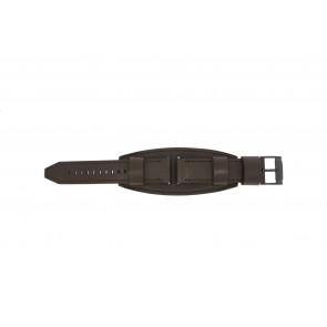 Horlogeband Fossil JR1365 Leder Bruin 22mm