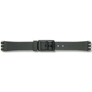 Horlogeband Universeel P38 Kunststof/Plastic Zwart 12mm