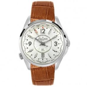 Jacques Lemans horlogeband GU200 / G175 Leder Cognac 23mm + bruin stiksel