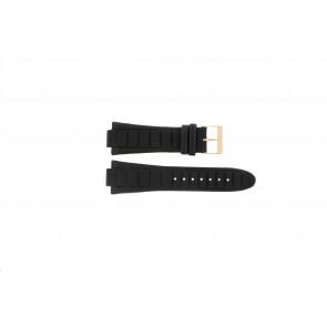 Guess horlogeband W14029G1 / W15513G1 Leder Zwart 14mm