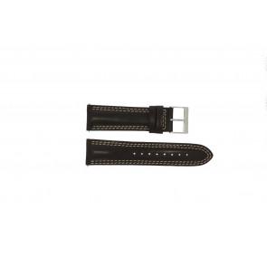 Guess horlogeband W95046G2 Leder Bruin 24mm