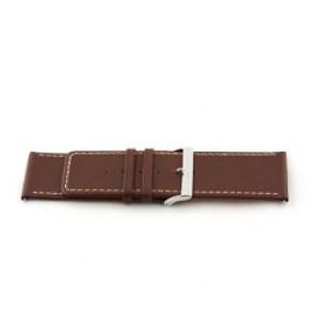 Echt lederen horloge band bruin 34mm EX-J43